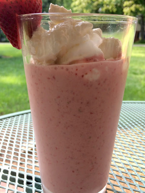 There is no excuse to not get your fruit in with this easy strawberry smoothie!
