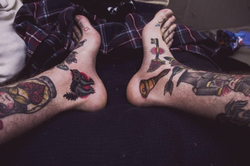 side calf tattoos