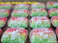 Resep dan cara membuat Kue Lapis Singkong aka Sentiling