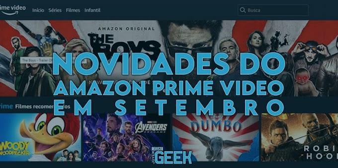 Novidades do Amazon Prime Video em setembro