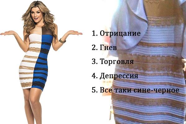 мем бело-синее платье