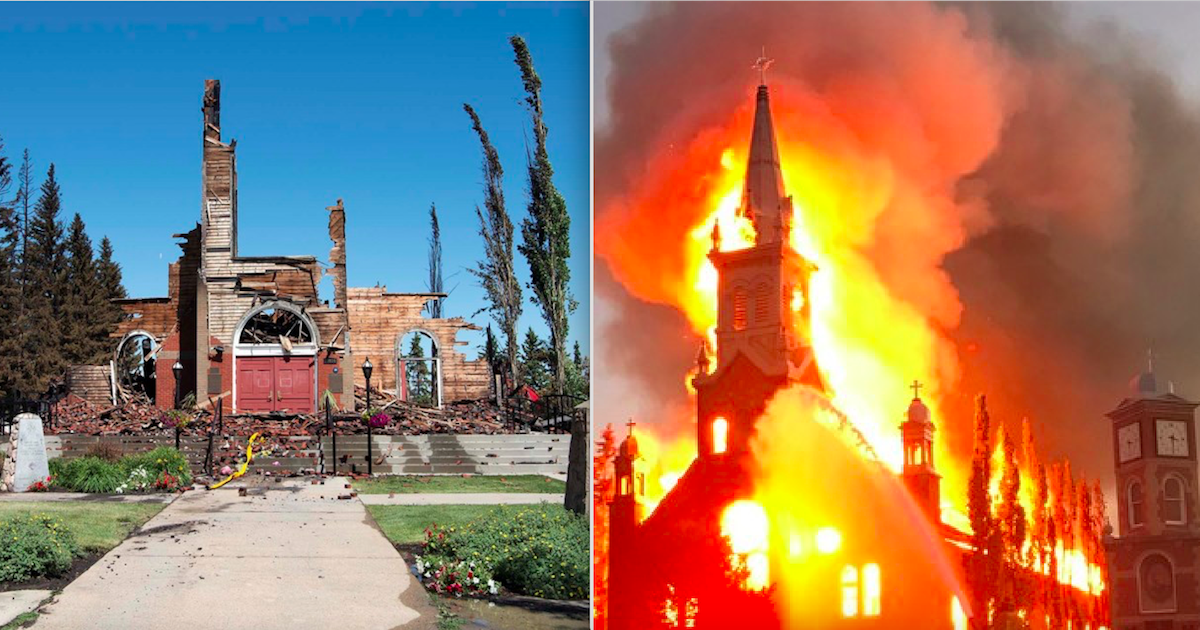 Two Catholic Churches In Canada Burned After Discovery Of Over 1,000 Dead Native Children