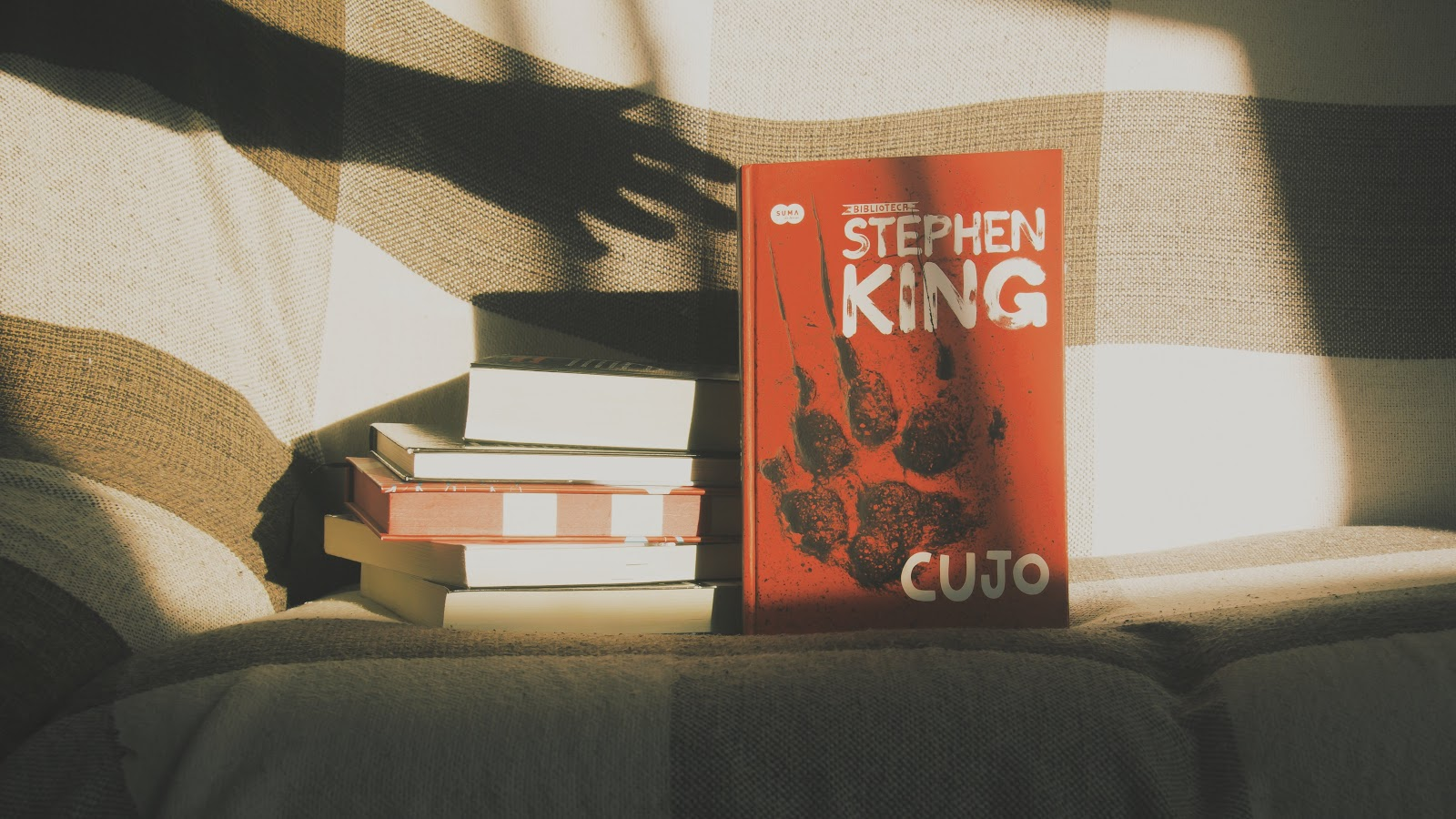 Autor Stephen King e o livro Cujo