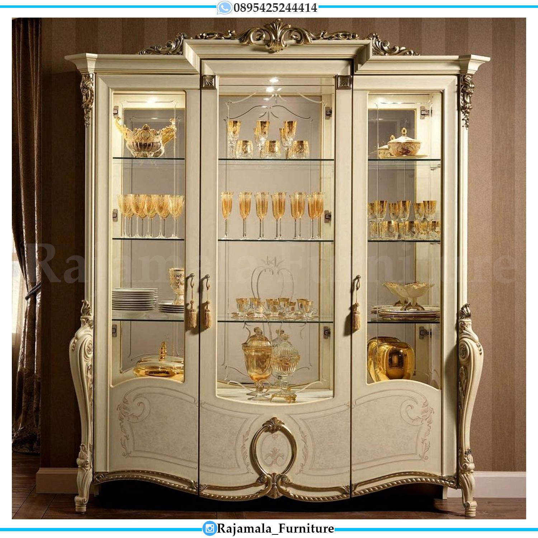 Harga Lemari Hias Mewah Luxury Carving Terbaru Furniture Jepara RM-0179
