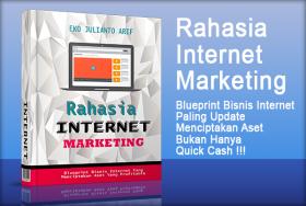 Rahasia internet marketing merupakan ebook panduan lengkap Internet Marketing yang menjelaskan step by step bagaimana menjadi seorang internet marketing expert.