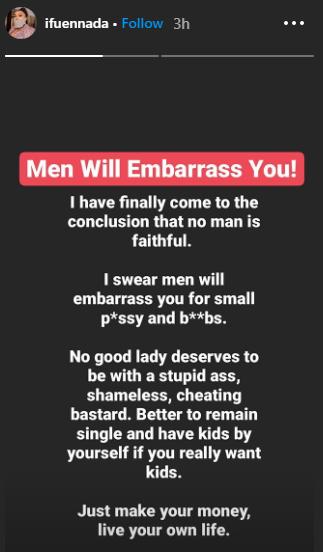 "ifu%2B2 - ""No man is devoted"" – Ifu Ennada advises girls to stay single"