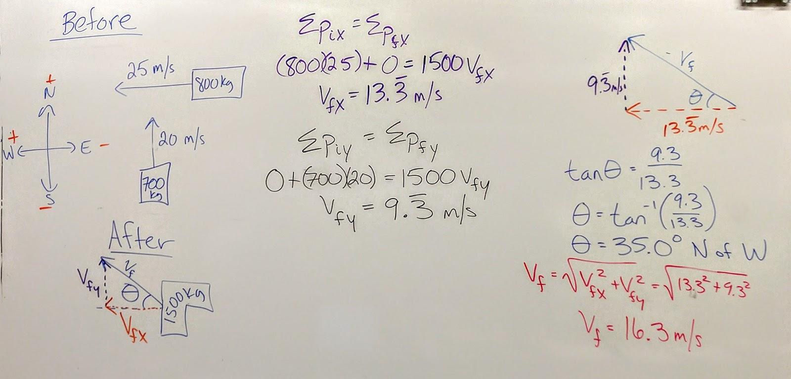 physics homework #51 momentum conservation