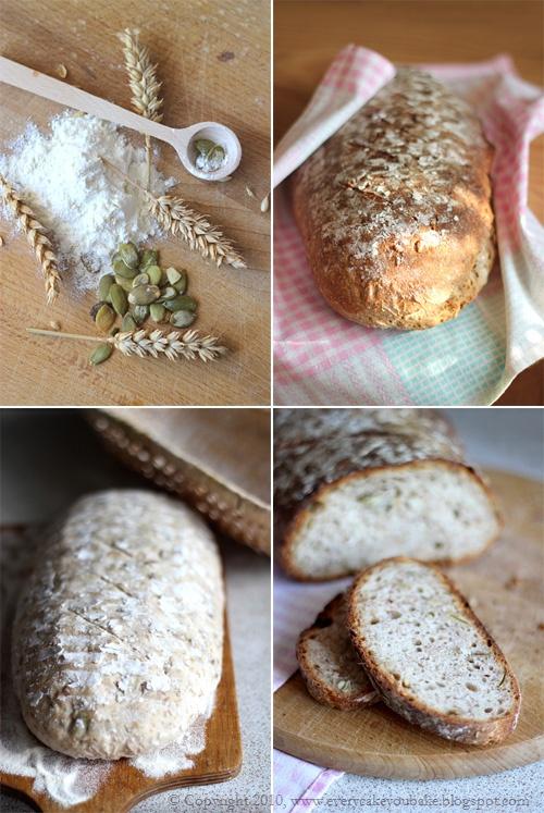 chleb pszenno-żytni na zakwasie ze słonecznikiem
