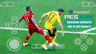 Download PES 2021 PPSSPP Best Graphic English Version Base TM ARTS/CV2 New Face Kits & Update Latest Transfer