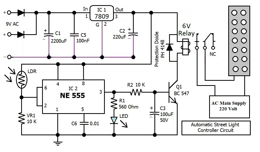 Hobby in Electronics: Automatic Street Light Controller