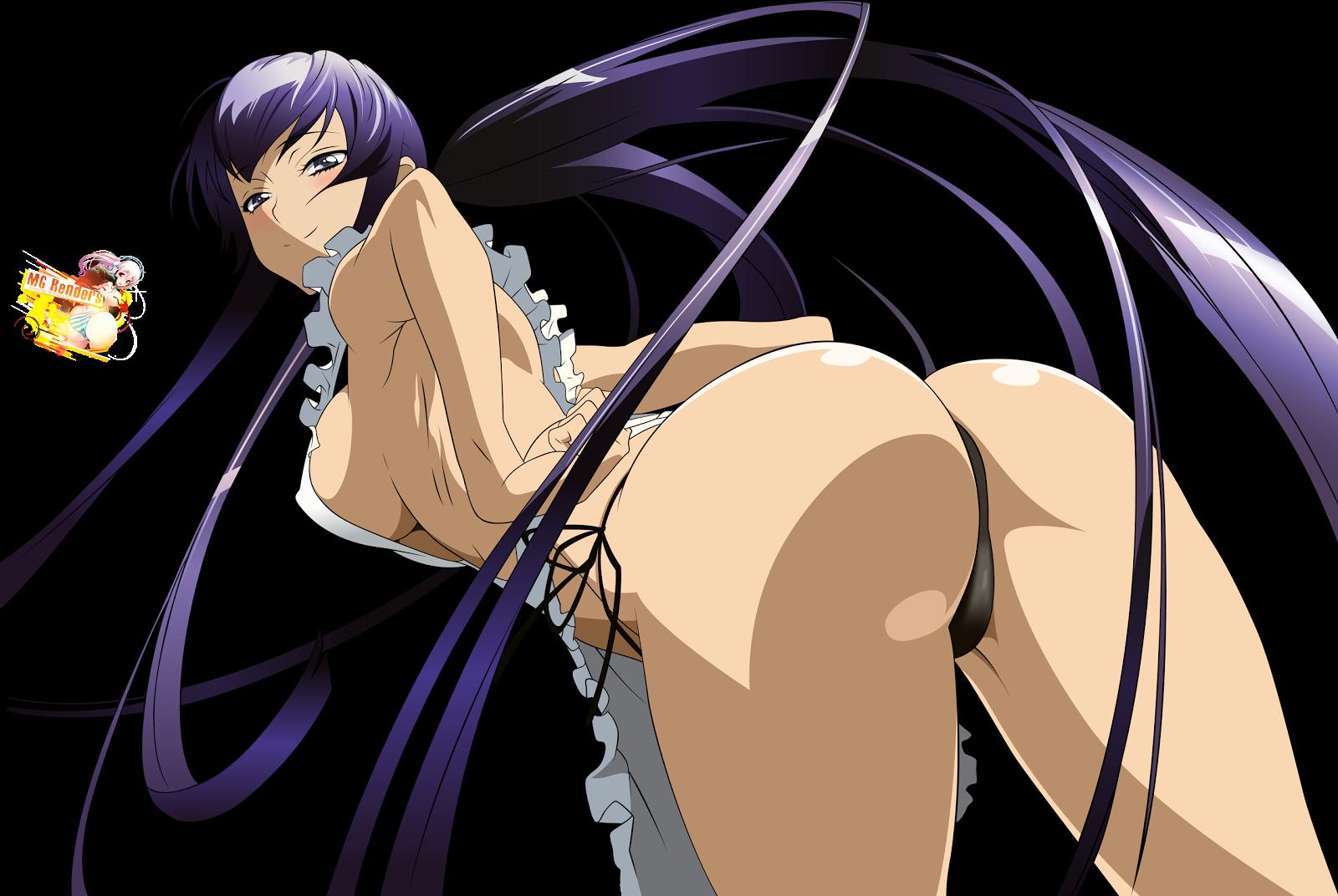 Highschool Of The Dead: Busujima Saeko Render 17 Ecchi
