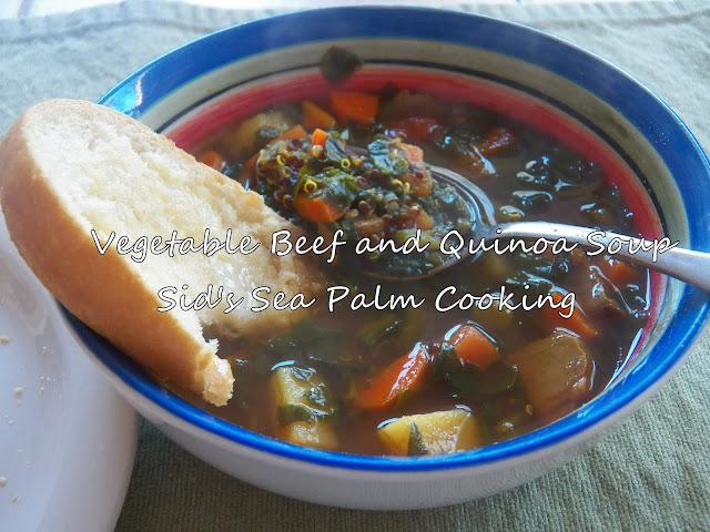 Vegetable Beef Quinoa Soup