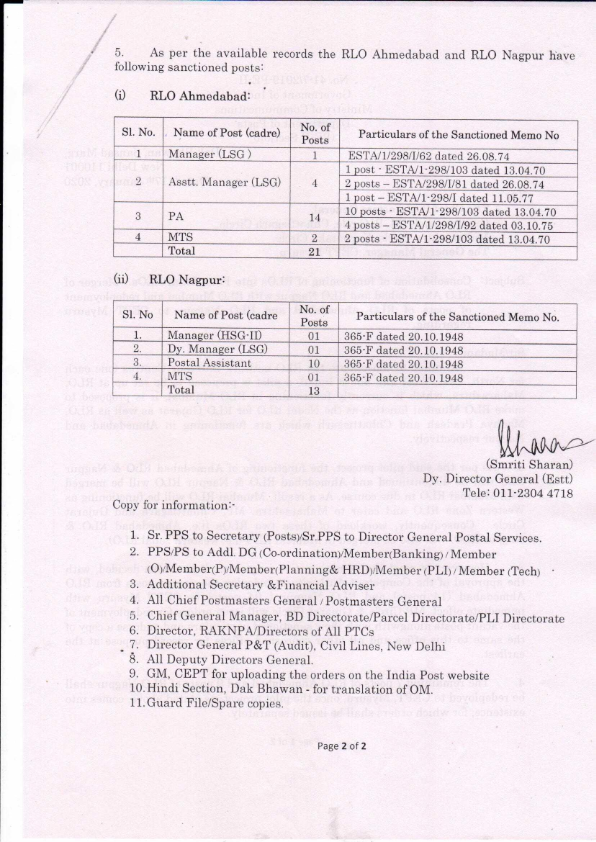 Consolidation of functioning of RLOs