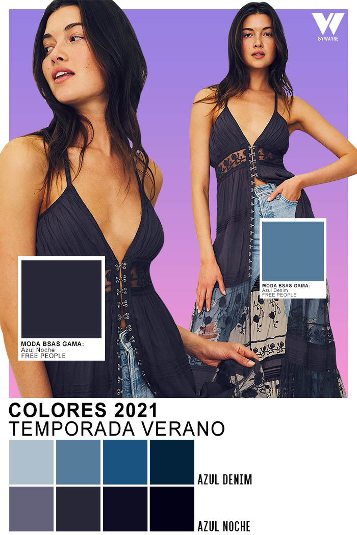 Colores primavera verano 2021 Temporada Verano Azul Denim y Azul Noche