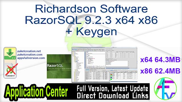Richardson Software RazorSQL 9.2.3 x64 + Keygen