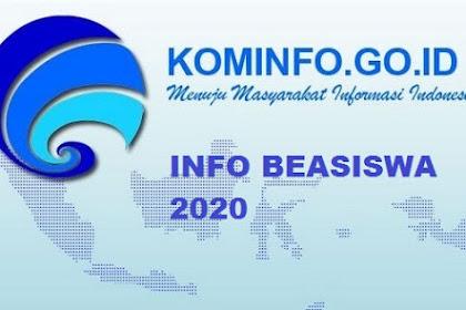 Informasi Beasiswa Pascasarjana Kominfo Tahun 2020