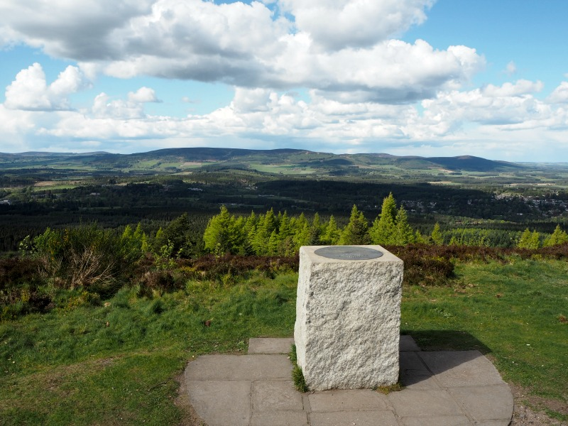 The view from the trig point on Scolty Hill