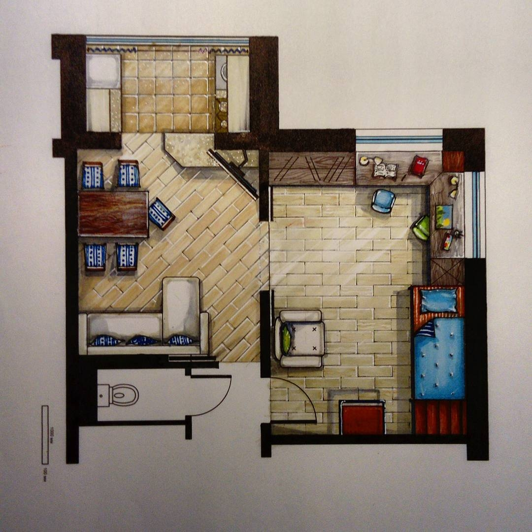12-Tiny-Flat-Floor-Plan-Мilena-Interior-Design-Illustrations-of-Room-Concepts-www-designstack-co