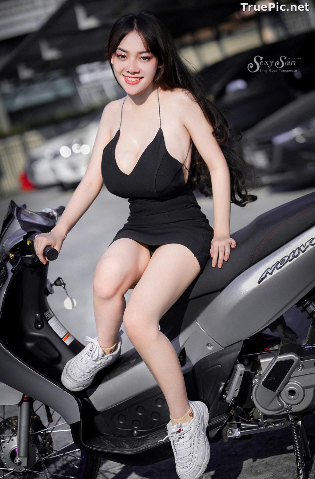 Image Thailand Model - จุ๊ปเปอร์ จุ๊ป - Sexy Black Car Girl - TruePic.net - Picture-3