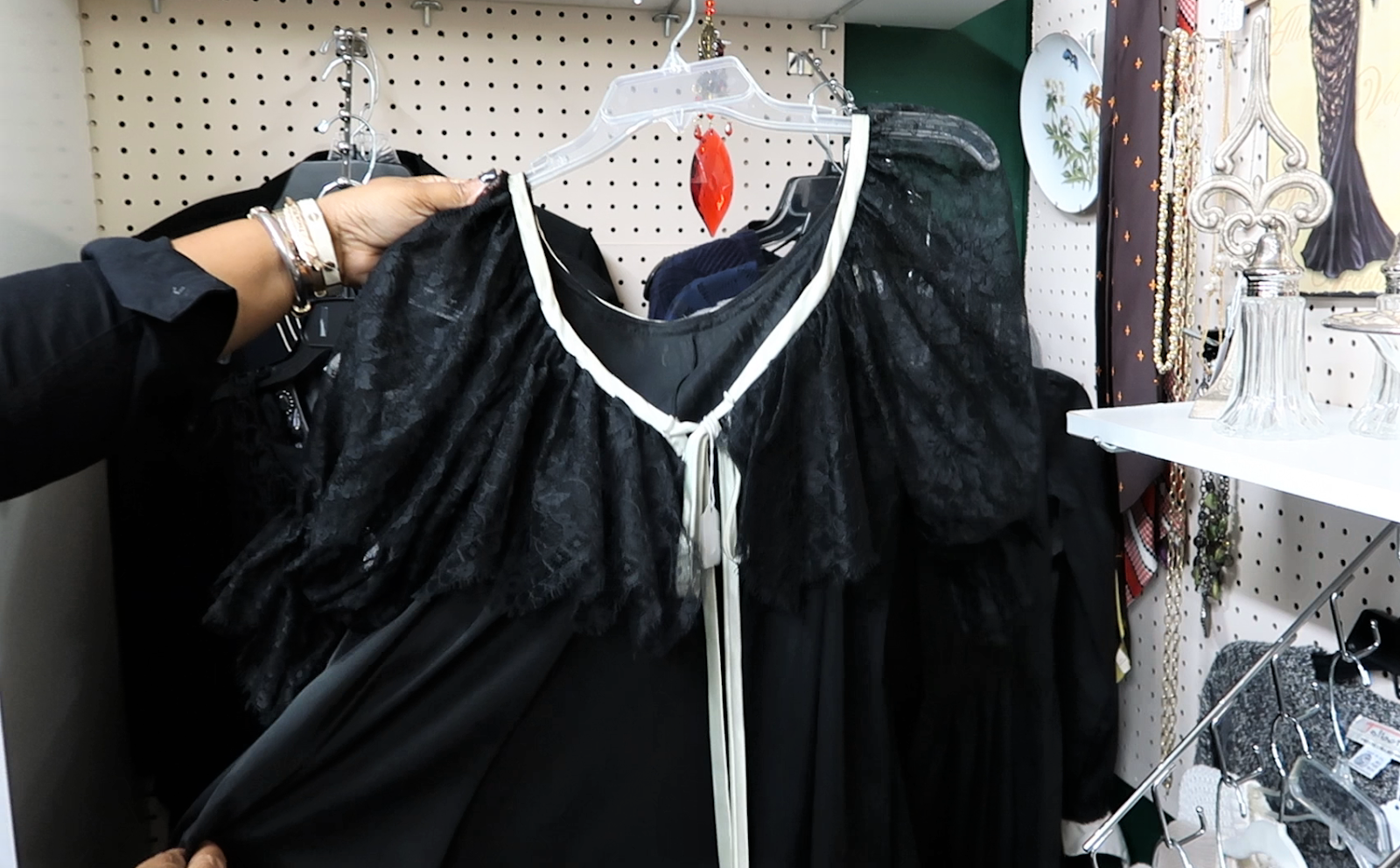 Vintage dresses at thrift store. Thrift Bits and Favorites