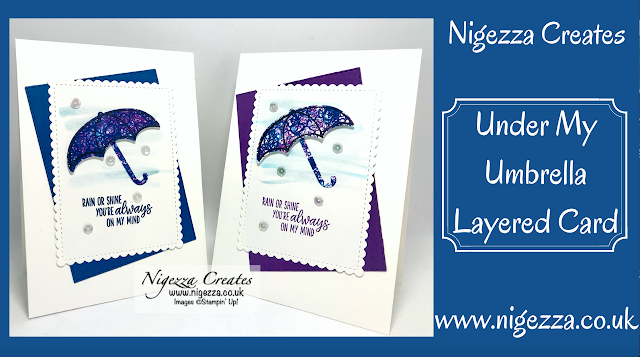 Nigezza Creates with Stampin' Up! Under My Umbrella  layered card