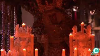 María Santísima del Rosario (Hdad Perdón) subiendo rampa SI Catedral. Semana Santa Cádiz 2019