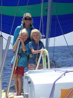 Emily on a yacht