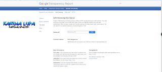 Cara cek keamanan link dengan Google Safe Browsing, Cara mengetahui Link Terinfeksi Virus dan Malware dan Blacklist Atau Tidak Dengan Google Safe Browsing