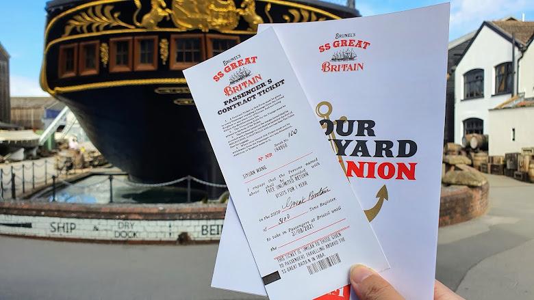 大不列顛海事博物館入場的一年年票