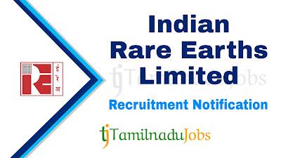 IREL Recruitment notification 2020, Govt jobs for iti, govt jobs for diploma, central govt jobs