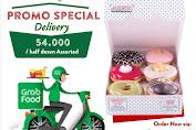 Krispy Kreme Promo Spesial Delivery GrabFood Rp.54.000 Setengah Lusin Donuts