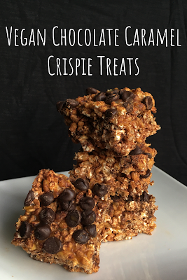 Vegan Chocolate Caramel Crispie Treats