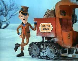 S.D. Kruger standing by his tractor in Santa Claus is Comin' to Town 1970 animatedfilmreviews.blogspot.com