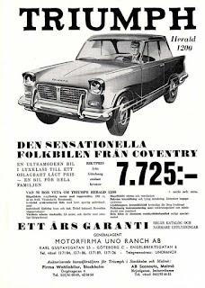 Motorfirma Uno Ranch AB Sweden Triumph Herald 1200