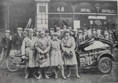Expedition at Royal Enfield London dealership.