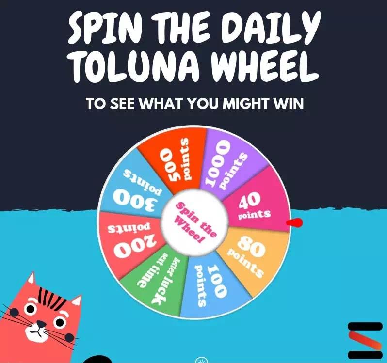 عجلة الحظ لحصد النقاط على موقع تولونا