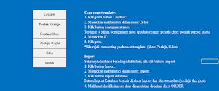 Template Poslaju GDex Microsoft Excel Button