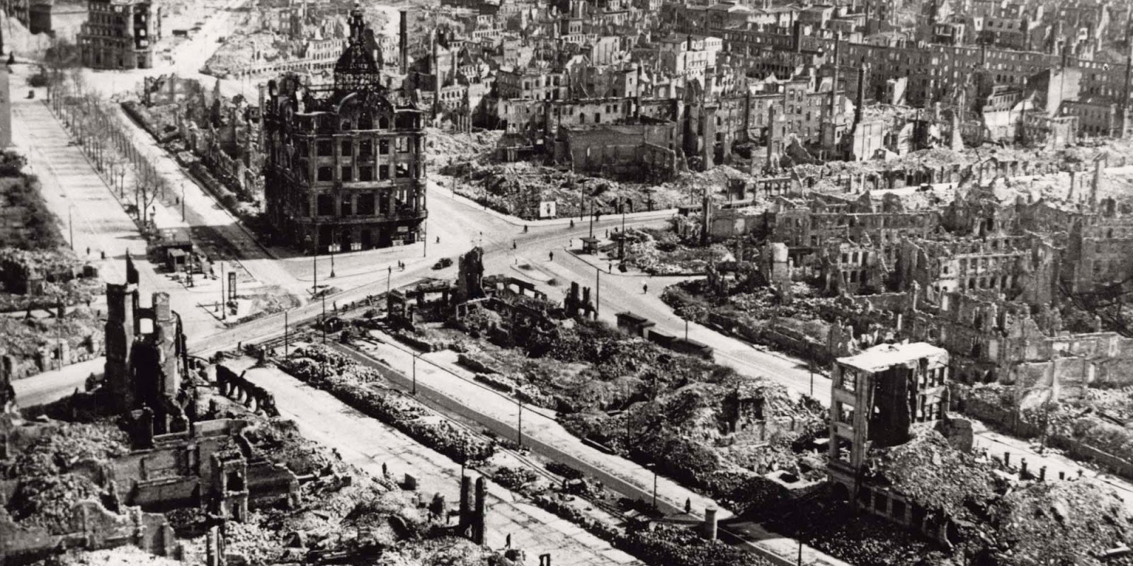 Beginning on the night of February 13, 1945, more than 1,200 heavy bombers dropped nearly 4,000 tons of high-explosive and incendiary bombs on the city in four successive raids.
