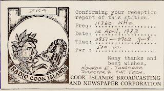 Cook Island update