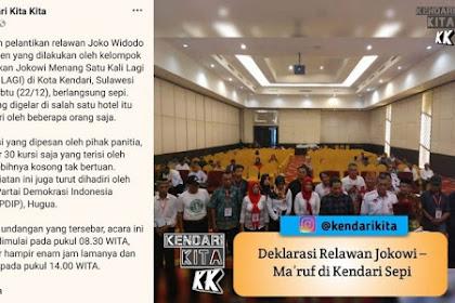 Mengejutkan! Deklarasi Relawan Jokowi-Ma'ruf di Kendari Yang Hadir Segini...