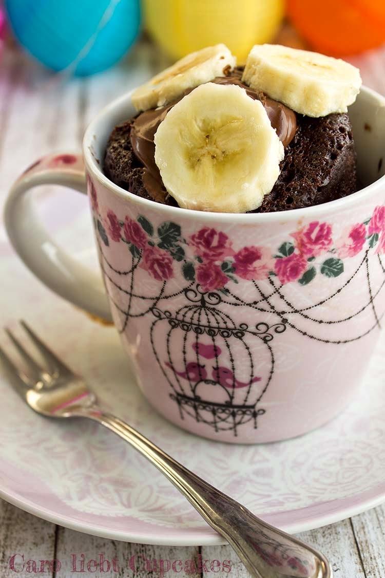 Caro Liebt Cupcakes Nutella Tassenkuchen Mit Banane