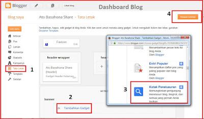 Cara Pasang Kotak Pencarian di blog