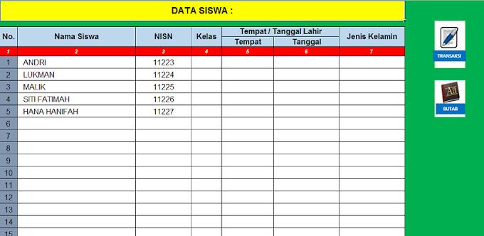 Tutorial Membuat Database Tabungan Siswa Excel dengan Rumus Lengkap