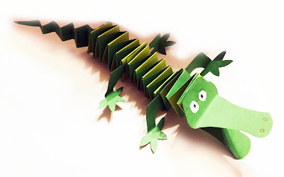 Krokodyl z papieru