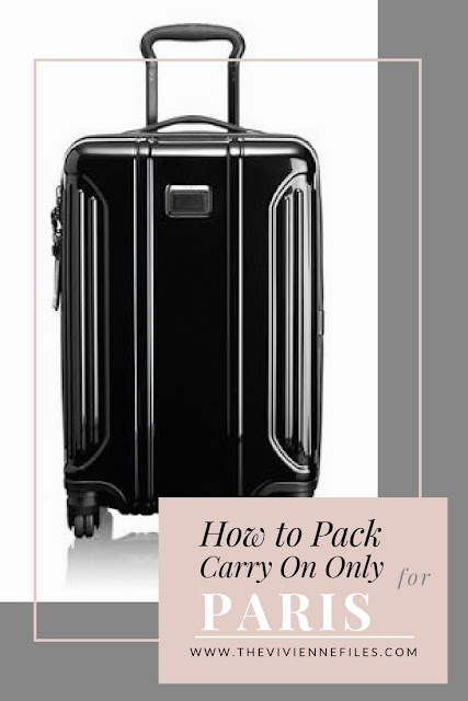 How to Pack for Paris, France in only a carry on bag