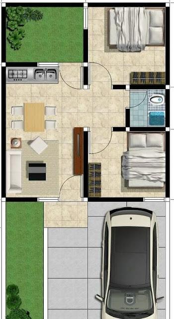 Desain dan Denah Rumah Minimalis Terbaru Type 40 Luas ...