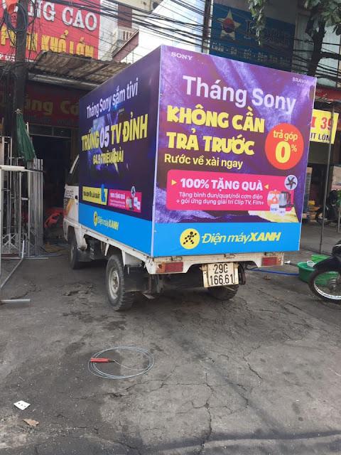 Quảng cáo trên xe tải Đăng Quang