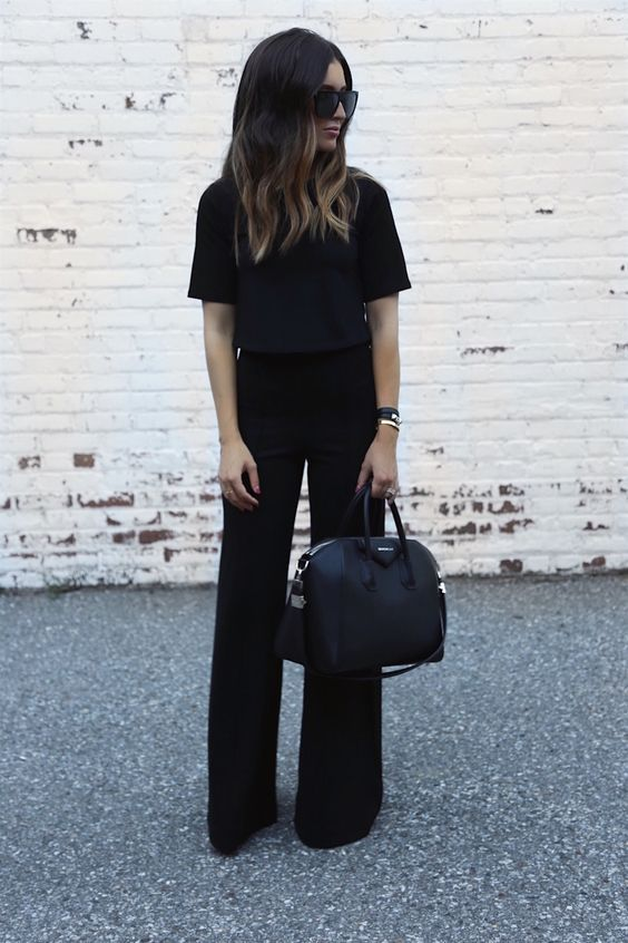look preto para trabalhar