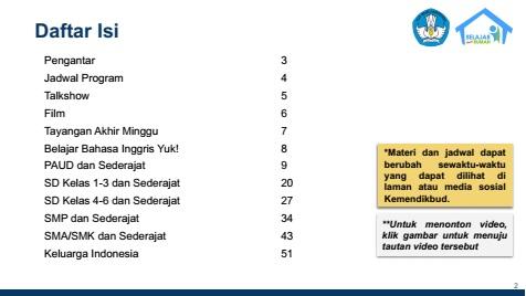 daftar isi panduan belajar dari rumah bdr tbri 21 22 23 24 25 26 27 september 2020 tomatalikuang.com