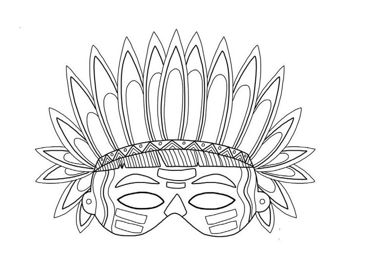 Trang trí mặt nạ thổ dân